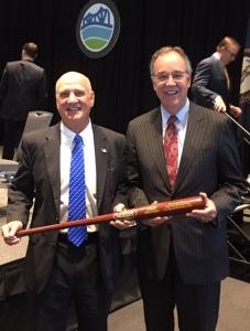 Bowen and Dave bat